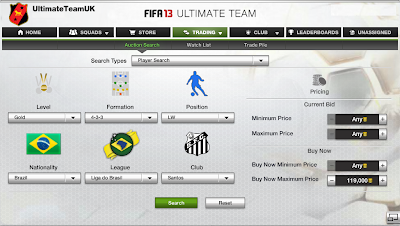 FUT 13 - Neymar XBOX 360 Auction House Search - FIFA 13 Ultimate Team