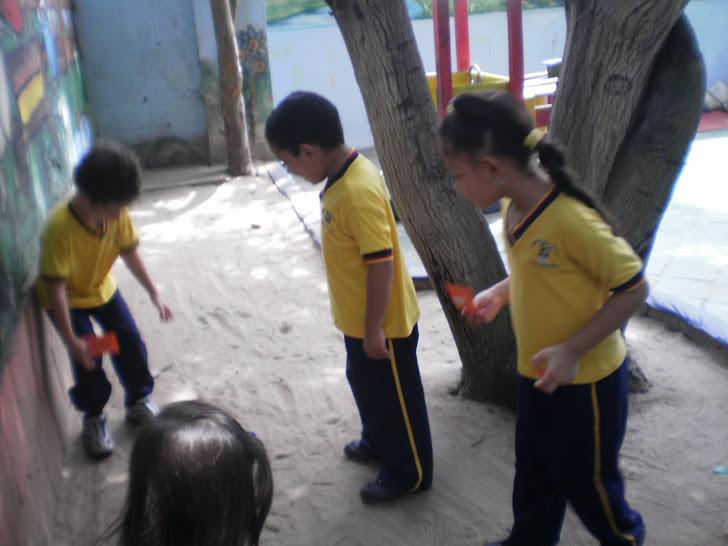 Nos divertimos buscando palabras ocultas para luego formar oraciones
