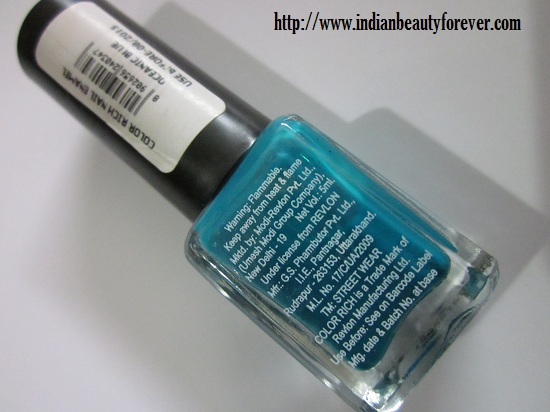Street wear Nail paint in Oceanic Blue Review, Swatches