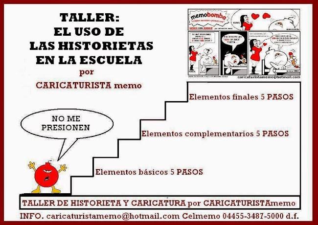 TALLER: EL USO DE LA HISTORIETA EN LA ESCUELA por caricaturista memo