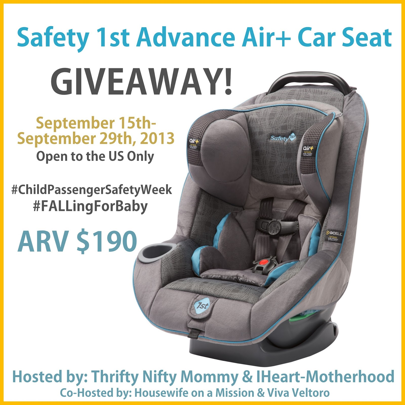 safety 1st advance air car seat giveaway ends 9 29 everything mommyhood. Black Bedroom Furniture Sets. Home Design Ideas