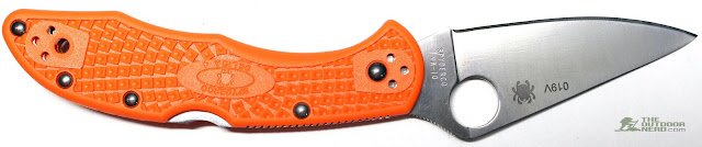 Numbered Spyderco Orange Delica 4 - Gallery 5