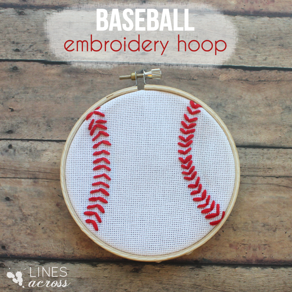 This little baseball embroidery hoop is a great DIY craft for a little ...