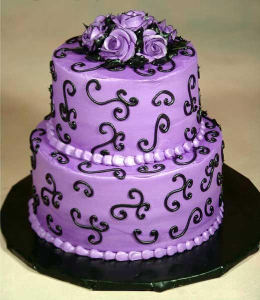Choose Royalty With Purple Wedding Cakes Wedding Cake Designs