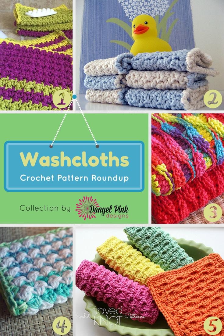 Danyel Pink Designs: 5 Crochet Patterns for Washcloths
