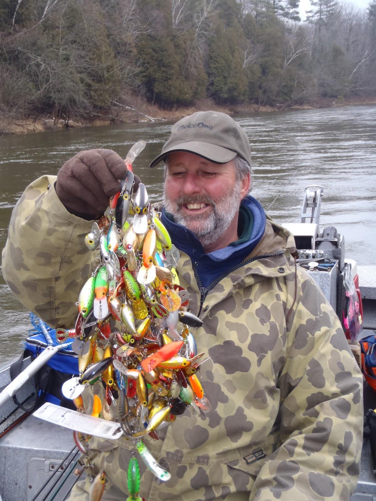 Art by sherri russell associates fishing lure frenzie for Steelhead fishing lures