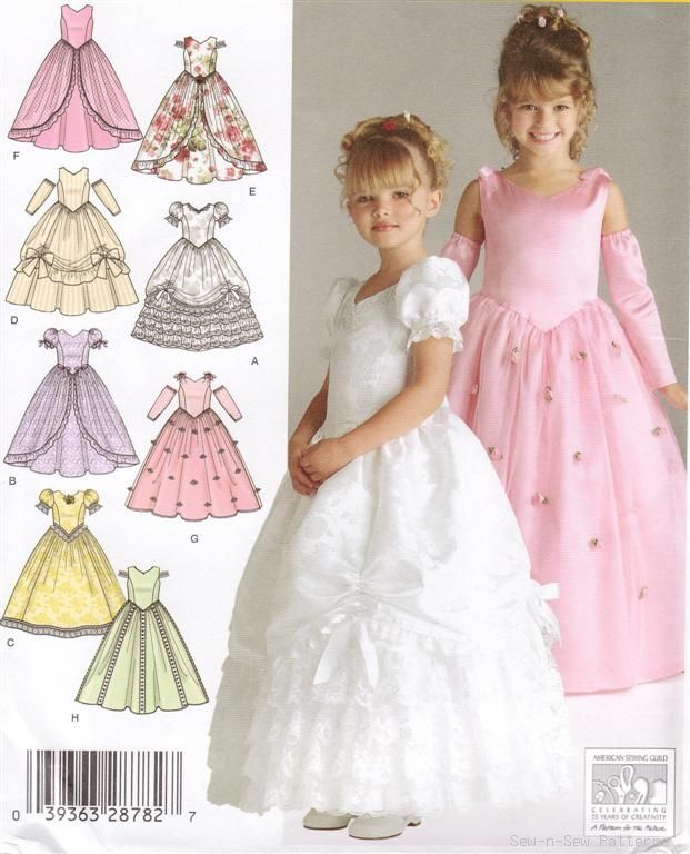 Flower girl dress pattern