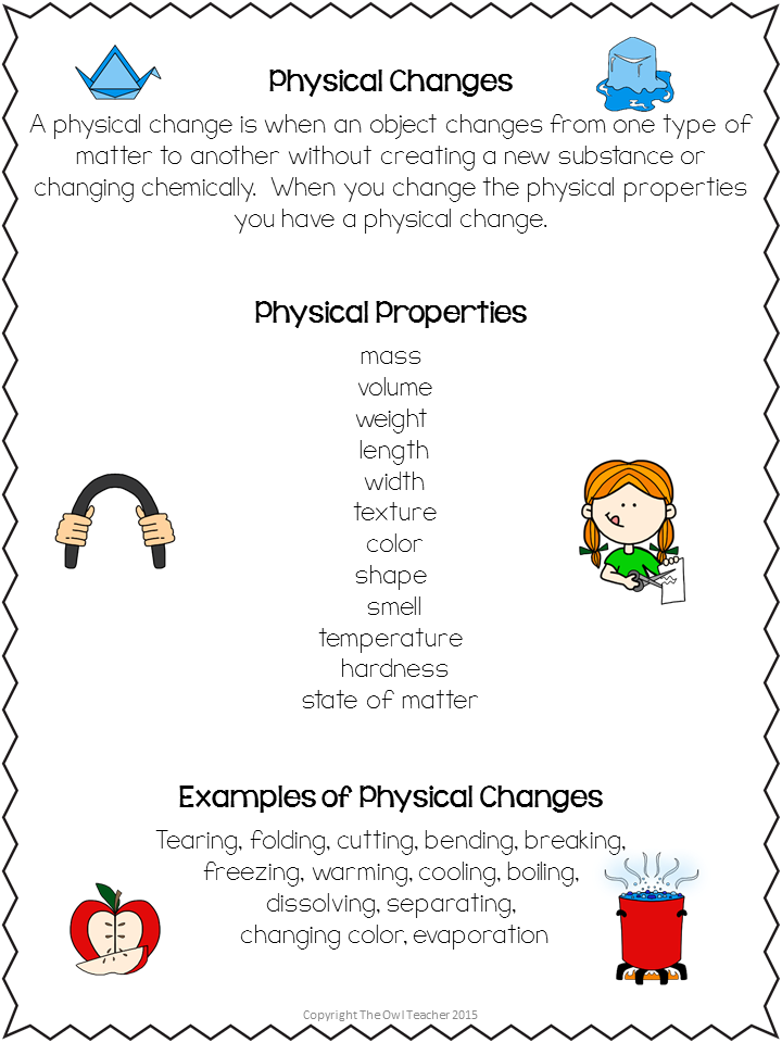 Melting Cups Is it a Physical Change or Chemical Change The – Chemical Vs Physical Change Worksheet
