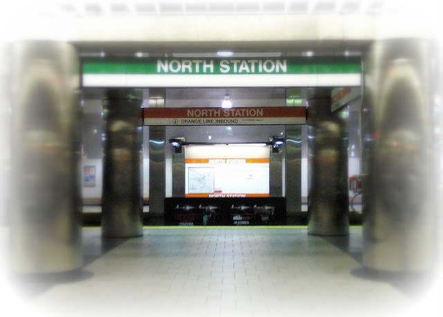 north station, subway, mbta, signs, columns