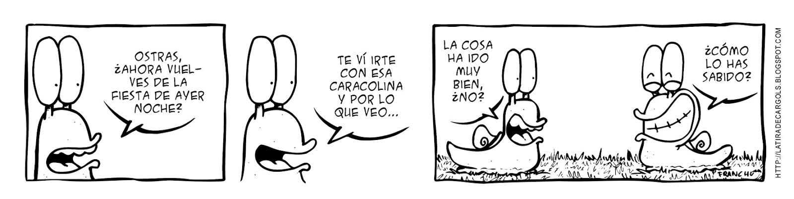 Tira comica 124 del webcomic Cargols del dibujante Franchu
