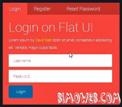 Flat UI Login form Style