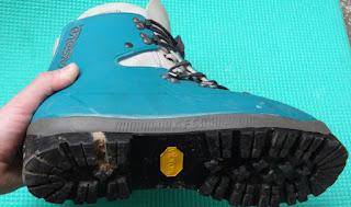Vibram Sole in Plastic Boots