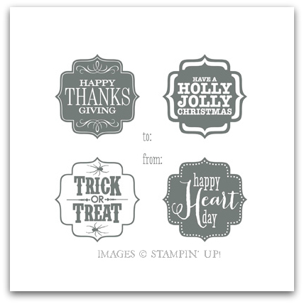 Stampin' Up! Tags 4 You Digital Stamp Brush Set