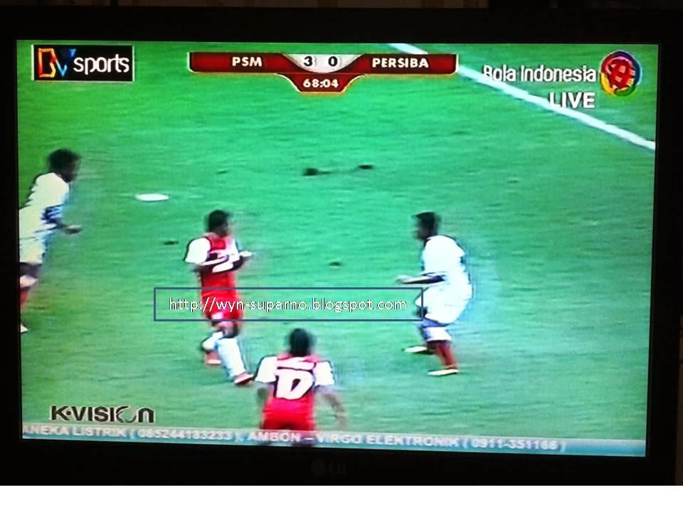 ScreenShoot: ISL 2014 PSM vs PERSIBA oleh BVsports K-Vision melalui ...