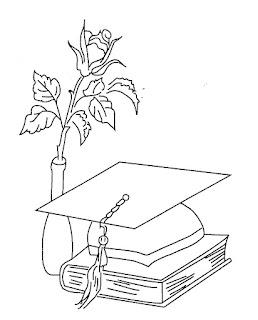 Dibujos para colorear de graduación