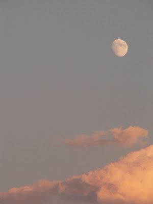 moon sunset sky nature photograph by Jennifer Kistler