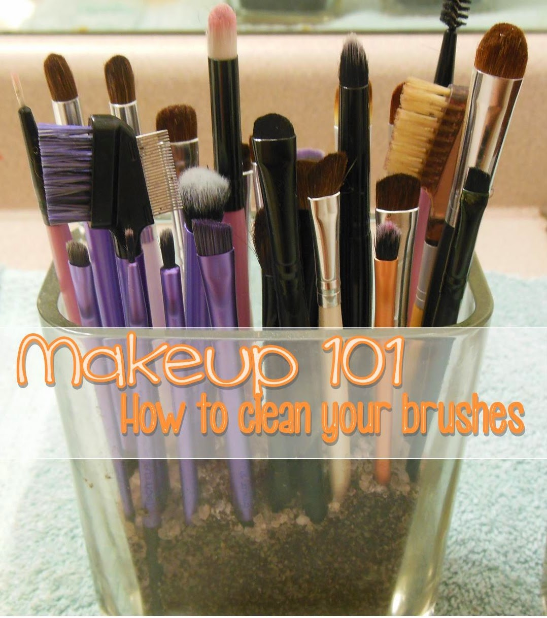 easy ways to clean makeup brushes at home, clean makeup brushes for acne prone skin