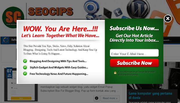 cara Membuat Email Subscribe melayang / Widget Berlangganan melayang di Blog Blogger Blogspot