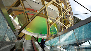 Artist's impression of the Escalators at the Cite Musicale de l'Ile de Seguin