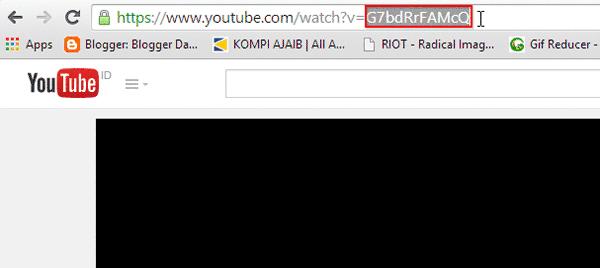 Kode ID Unik Video Youtube