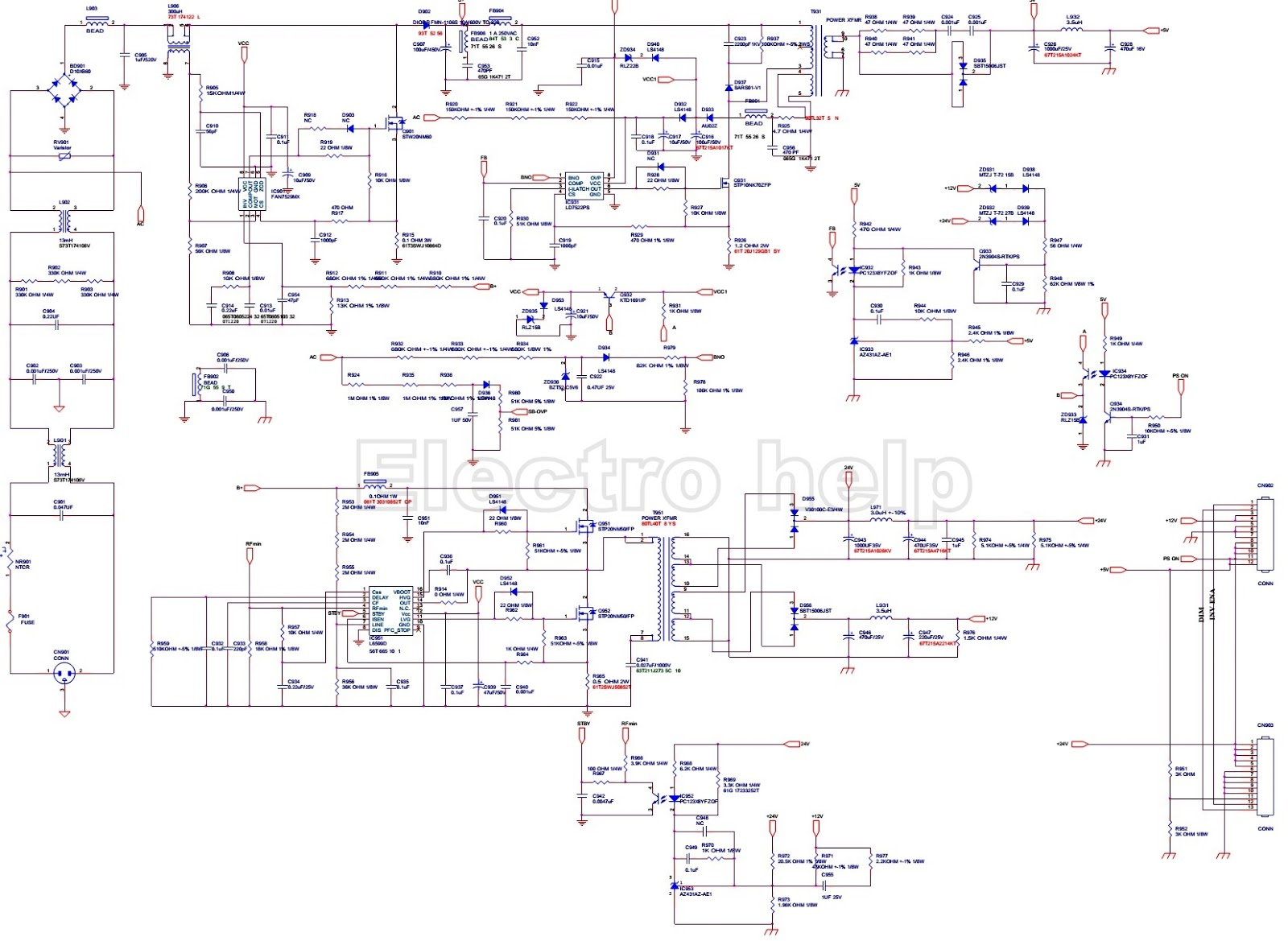 Lg Lcd Tv Power Supply 715t3181 Schematic Electro Help Click On The To Magnify