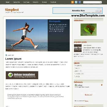 Simplest blogger template. template blogger magazine style template. template blogger with featured content slider