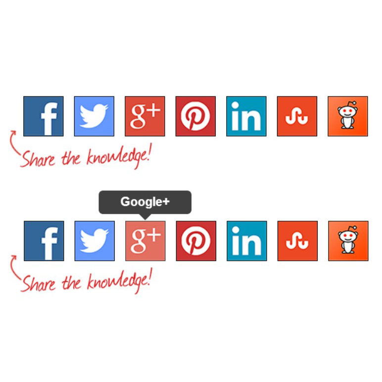 Flat Social Sharing Buttons for Blogger