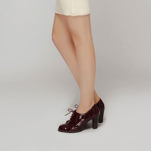 Wing Tip Oxford Heels