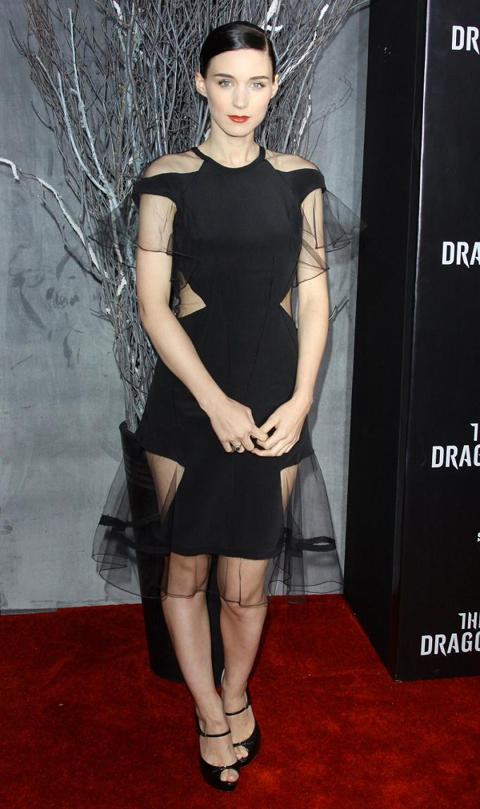 Rooney Mara at the Premiere of The Girl with the Dragon Tattoo in NYC