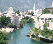 Old Bridge Area of the Old City of Mostar Heritage