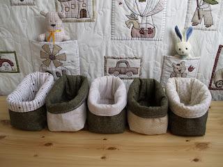 Textil tárolók babaszobába