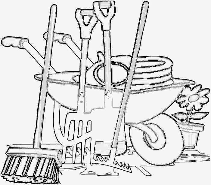 Dibujos para colorear maestra de infantil y primaria el - Utiles de jardineria ...