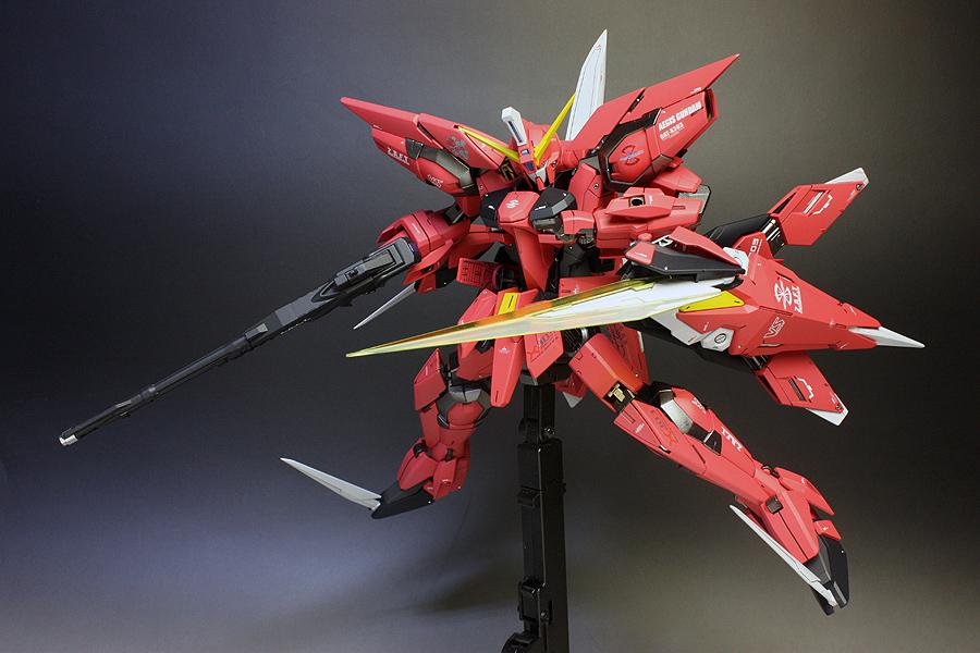 mg 1100 aegis gundam painted build gundam kits