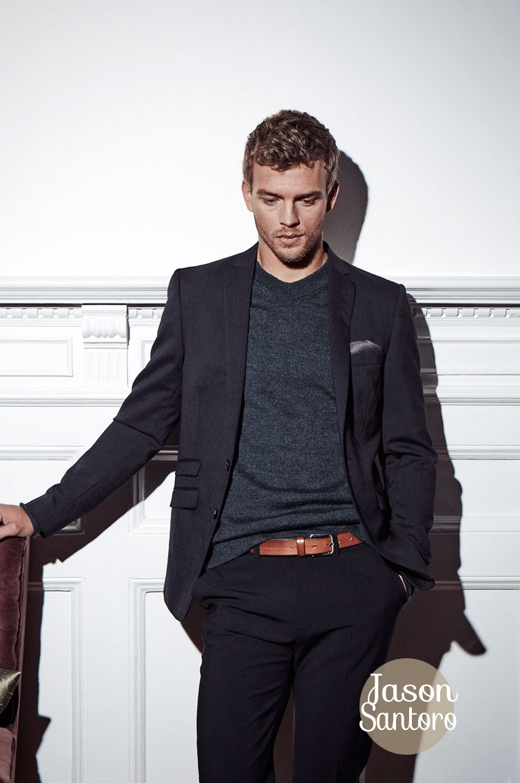 Model Benjamin Eidem Black and Navy AD Campaign