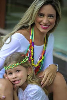 acessórios femininos para carnaval mix de colar e headband infantil
