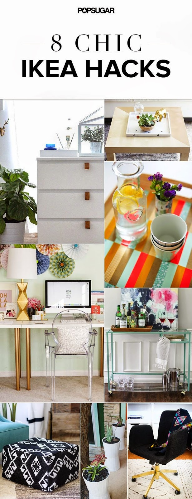 8 Chic IKEA Hacks
