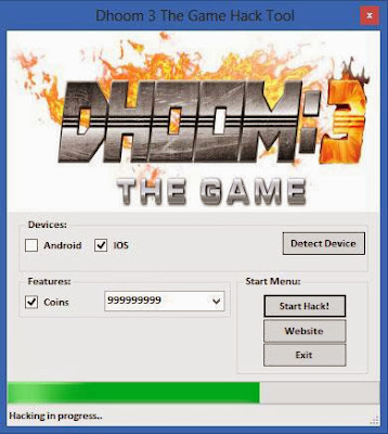 Dhoom 3 The Game Hack