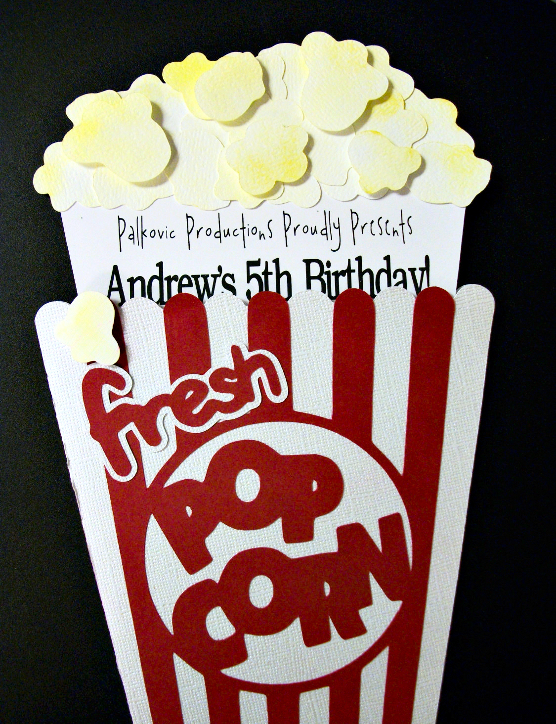 Cutest little things 5th birthday movie party adorable magnetic invitations from deb den designs filmwisefo