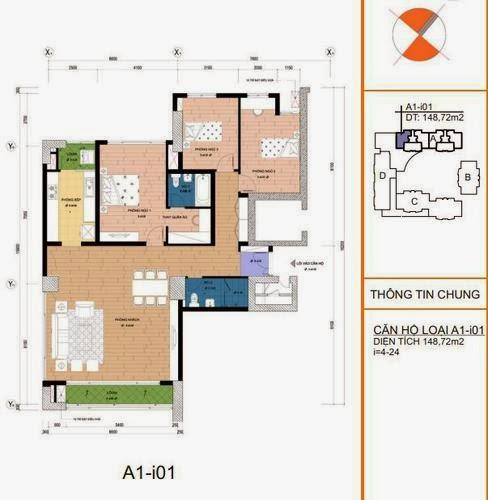 Mặt bằng căn hộ A1- i01