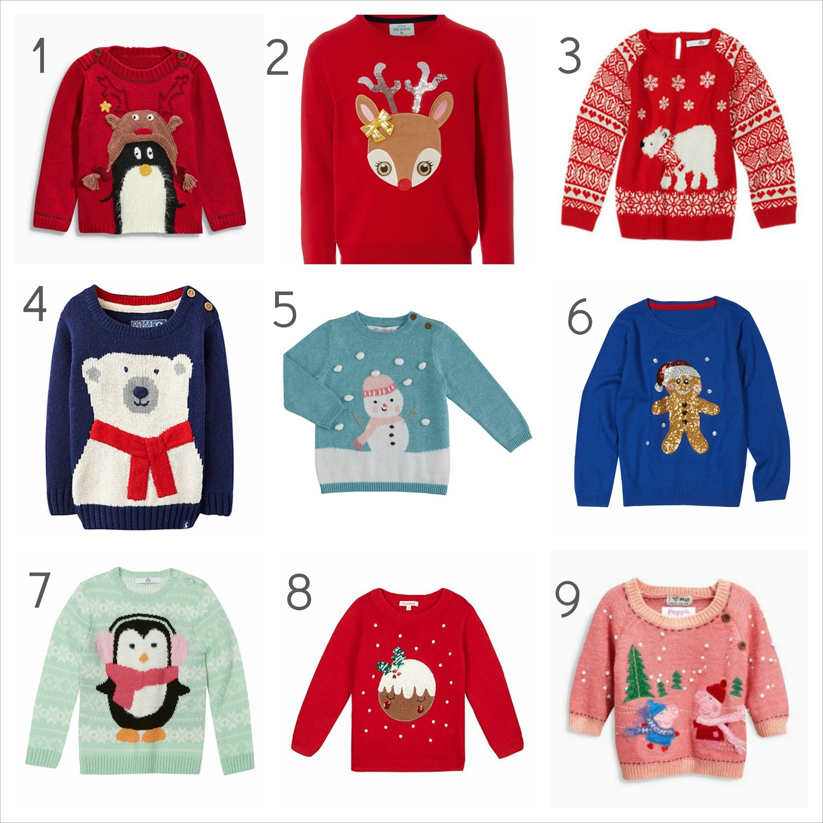 My 9 favourite girls Christmas jumpers 2015 | Wave to Mummy