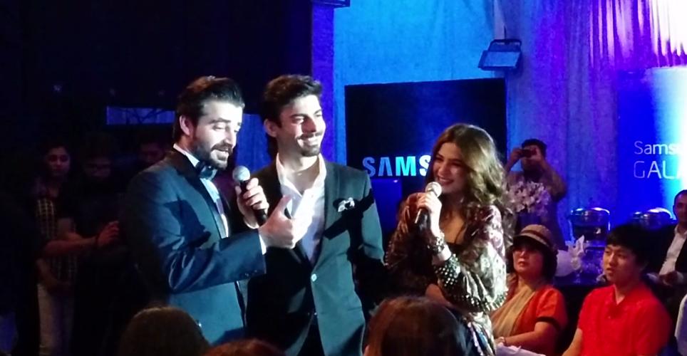 Hamza Ali Abbasi and Ayesha Umar Host Launch of Samsung Note 4