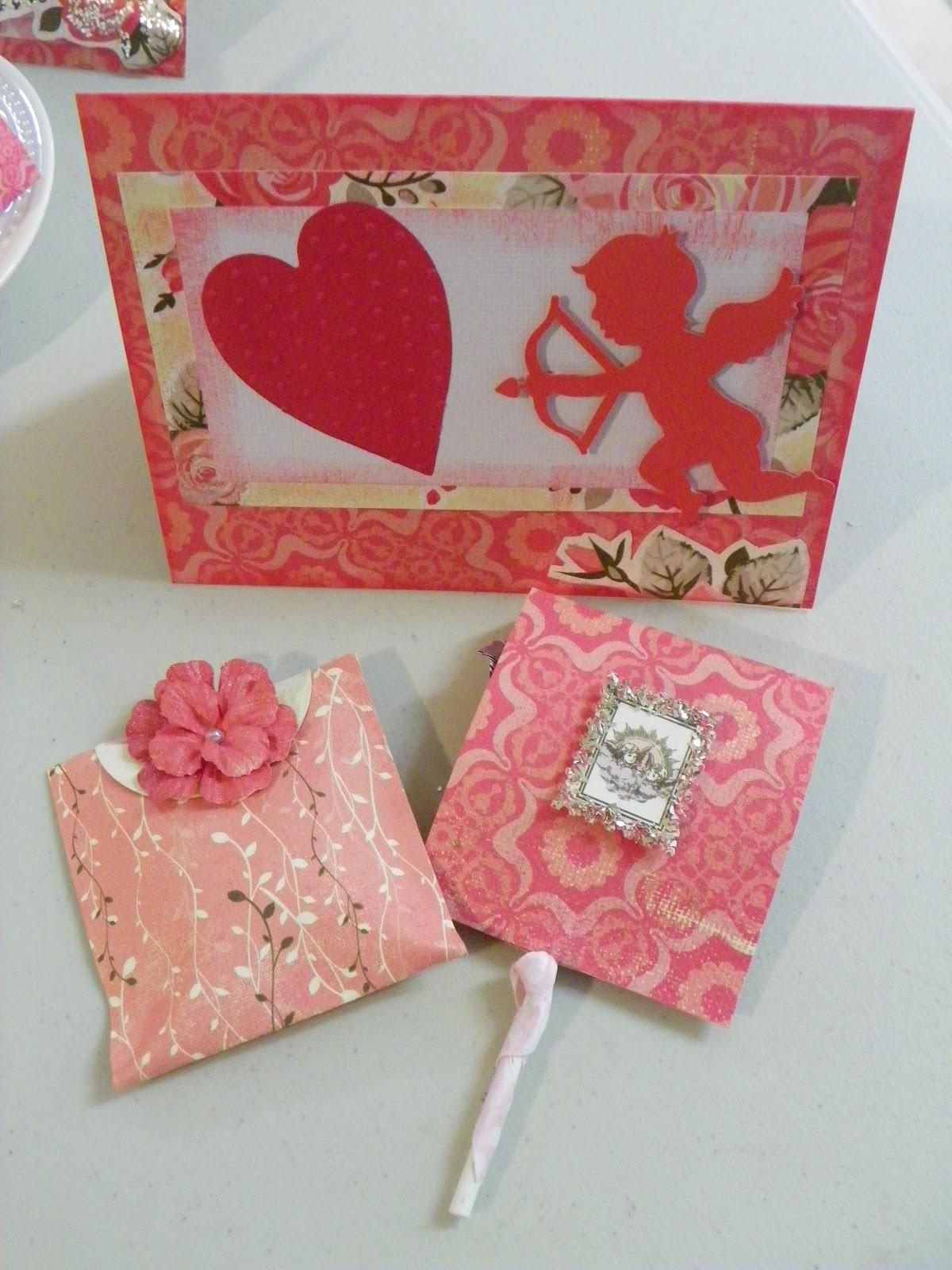 Alice Paper Crafts: Valentine\'s Tea bag, Lollipops & Cards