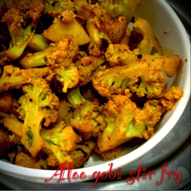 Only indian food aloo gobi stir fry aloo kobi bhaja my mom used to cook this side dish for roti in winter season as those days cauliflower were available in more quantity in winter and the veggie is fresh and forumfinder Gallery