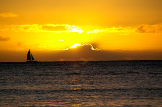 Oahu sunset sail