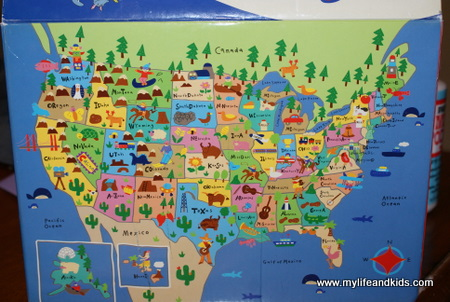 Remodelaholic DIY USA Map Out Of Scrapbook Paper - Map of usa labeled