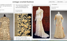 Vintage crochet, lace, embroidery and beads fashion