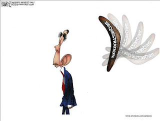 Michael Ramirez Cartoon on Sequestration