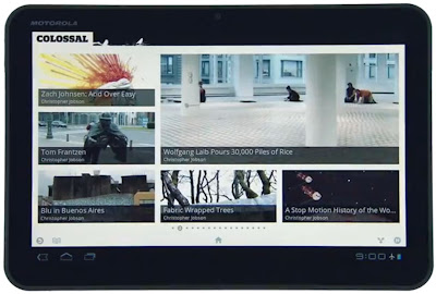 Google Currents on Motorola Xoom con Android