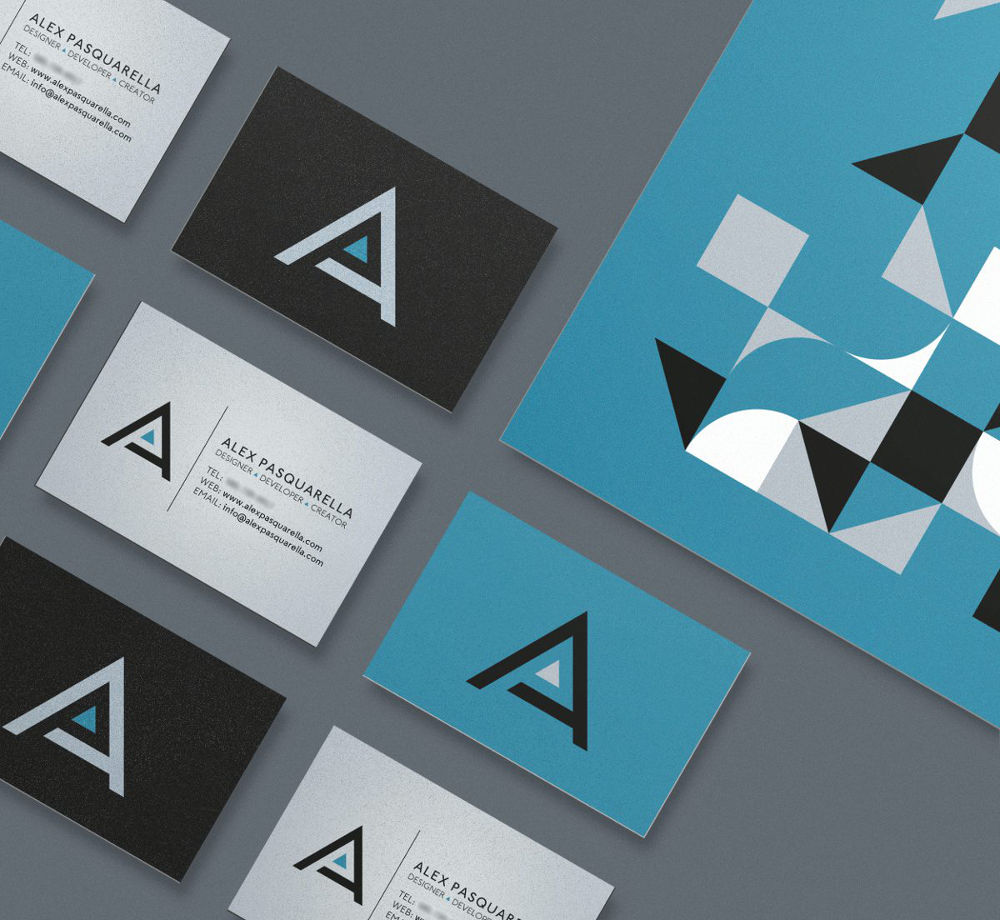 A personal brand for graphic designer Alex Pasquarella