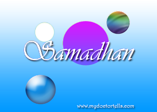 Samadhan means Contentment